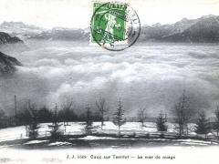 Caux sur Territet La mer de nuage