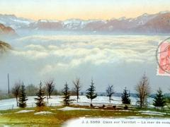 Caux sur Territet La mer de nuages