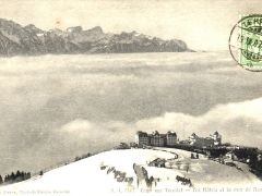 Caux sur Territet Les Hotels et la mer de Nuages