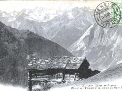 Chalet sur Verbier et la chaine du Mont Blanc