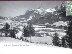 Chateau d'Oex en Hiver