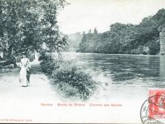 Geneve Bords du Rhone Chemin des Saules