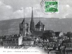 Geneve Cathedrale de St Pierre et le Saleve