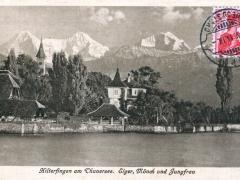 Hilerfingen am Thunersee Eiger Mönch und Jungfrau