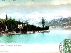Hilterfingen Thunersee und Alpen