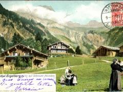 Horbisthal Engelberg Partie mit Schweizer Häuschen