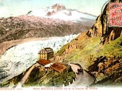 Hotel Belvedere et le Glacier du Rhone