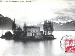 Ile de Salagnon Lac Leman
