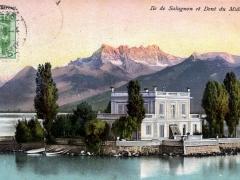 Ile de Salagnon et Dent du Midi