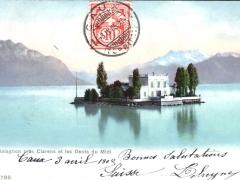 Ile de Salagnon pres Clarens et les Dents du Midi