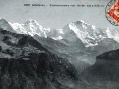 Interlaken Alpenpanorama vom Harder aus
