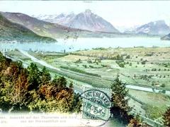 Interlaken Aussicht auf den Thunersee und Aare von der Heimwehfluh aus