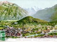 Interlaken Generalansicht Mönch und Jungfrau