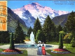 Interlaken Kursaal Parkanlagen mit Jungfrau