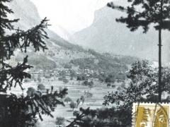 Interlaken Rugen Blick auf dei Jungfrau