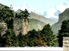 Interlaken Ruine Unspunnen mit Eiger Mönch und Jungfrau