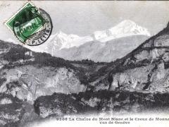 La Chaine du Mont Blanc et le Creux de Monnetier vus de Geneve