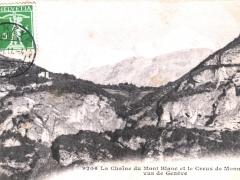 La Chaine du Mont Blanc et le Creux de Monnetier