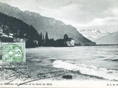 La Chateau de Chillon et la Dent du Midi