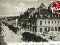 La Chaux de Fonds Hotel des Postes et Rue Leopold Robert
