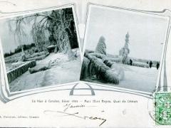 La bise a Geneve 1903 Parc Mon Repos Quai du Leman