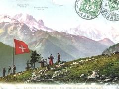 La chaine du Mont Blanc Vue prise au dessus de Salvan