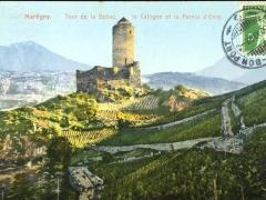 Martigny Tour de la Batiaz le Catogne et la Pointe d'Orny