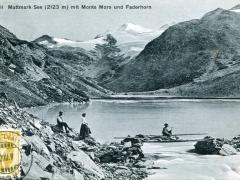 Mattmark See mit Monte Moro und Faderhorn