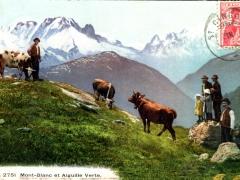 Mont Blanc et Alguille Verte