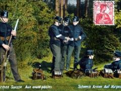 Schweiz Armee auf Vorposten