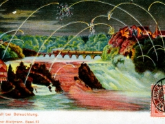 Rheinfall bei Beleuchtung