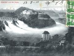 Rheinfall und die Alpen