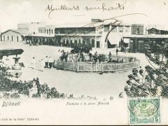 Djibouti Fontaine a la place Menelik