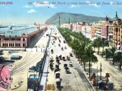 Barcelona Almacenes del Puerto y vista panoramica del Paseo de Colon