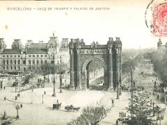Barcelona Arco de Triunfo y Palacio de Justicia