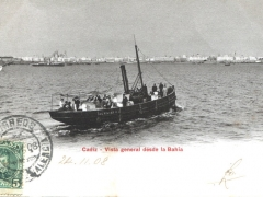 Cadiz Vista general desde la Bahia