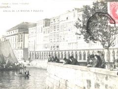 Coruna Calle de la Marina y Puerto