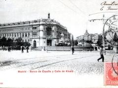 Madrid Banco de Espana y Calle de Alcala