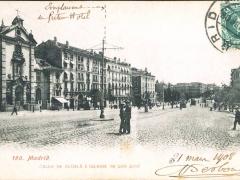 Madrid Calle de Alcala e Iglesia de San Jose