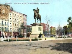 Madrid Calle de Alcala y Monumento a Espartero