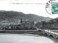 San Sebastian Barrio de Gros y puente de Santa Catalia