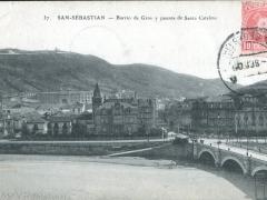 San Sebastian Barrio de Gros y puente de Santa Catalina
