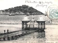 San Sebastian El bano de la Reina y la Isla Santa Clara