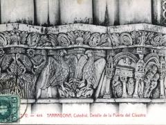 Tarragona Catedral Detalle de la Puerta del Claustro