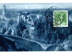 Hrad Zvikov Stok Vltavy s Otavou