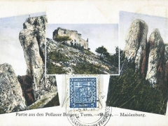 Partie aus den Pollauer Bergen Maidenburg Ruine