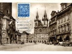 Prag Altstädter Rathausuhr Teinkirche
