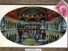 Constantinople Interieur de la Mosquee de Ste Sophie