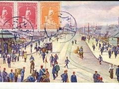 Constantinople Le pont de Galata