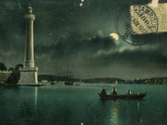 Constantinople Phare d'Ahir Kapou au clair